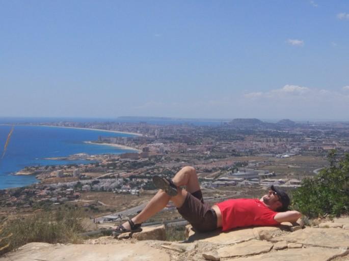 Vistas de la Variante sobre las playas y Huerta de Alicante.jpg