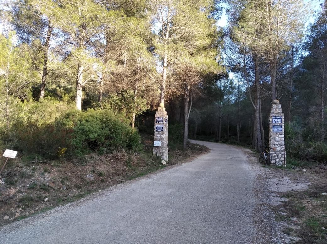 Entrada Paraje Natural de la Casella